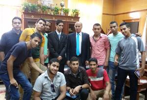 جامعة بنها تشارك بمعسكرات إعداد القادة الفوج السادس