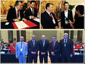 بالصور ... رئيس جامعة بنها يشارك في ملتقى رؤساء الجامعات الصينية والعربية