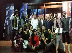 مسرحية دون كيشوت لمنتخب جامعة بنها المسرحي على مسرح متروبول بالقاهرة