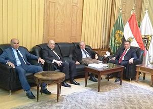 رئيس جامعة بنها يستقبل رئيس جامعة عين شمس لمناقشة الشراكة والتعاون بين الجانبين
