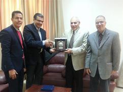وفد جامعة بنها بمقر أمانة إتحاد الجامعات العربية بالعاصمة الأردنية