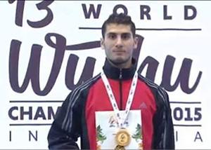 أمير معبد أول لاعب مصرى وعربى وأفريقى بالمركز الأول في اساليب الوشو كونغ فو