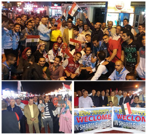 أساتذة وطلاب جامعة بنها ينظمون مسيرة حاشدة لتنشيط السياحة بشرم الشيخ
