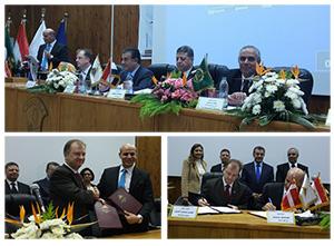 La signature d 'un accord de coopération pour la mise en place d 'une unité du développement des projets agricoles à l 'Université de Benha
