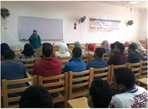 دورة فى اللغة الانجليزية على مستوى الجامعة ضمن فاعليات مهرجان كراكيب 4