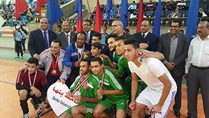 الميدالية الفضية لجامعة بنها فى البطولة العربية للجامعات لخماسي كرة القدم