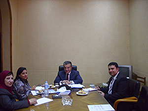 Visite de la directrice du Centre d'Activités Francophones à l'Université de Benha.