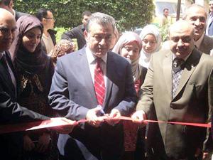 رئيس جامعة بنها يفتتح مكاتب خدميه تابعه لوزارة الداخليه بإدارة الجامعة