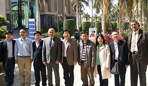 Benha University receives a Delegation from Huazhong University