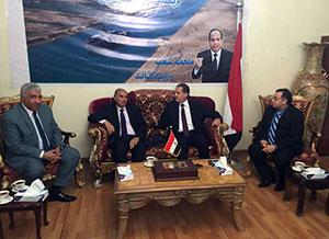 وفد جامعة بنها يلتقى بالمستشار الثقافى المصرى بالسعودية