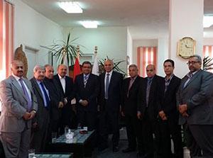 وفد الجامعة الهاشمية الأردنية يتفقد كليتى الزراعة والطب البيطرى بمشتهر