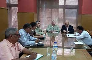 رئيس الجامعة يناقش خطة العمل للعام الجديد مع مديرى المدن الجامعية