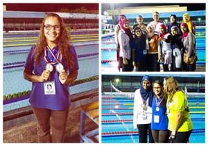 جامعة بنها تحصل على الميدالية الذهبية فى السباحة بأسبوع شباب الجامعات بالمنيا