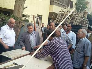 رئيس جامعة بنها يتابع أعمال الصيانة بالمدينة الجامعية بطوخ إستعدادا للدراسة