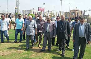 Benha University President inspects Faculty of Physical Education