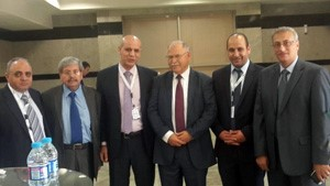 The Jordanian Minister of higher education and the head of the Arab Universities union inaugurates the higher education fair in the Middle-East