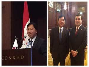 The Japanese embassy in Cairo honors the scholarship obtainers from the Japanese universities