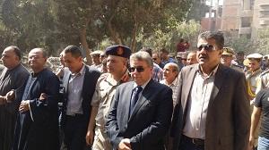 رئيس جامعة بنها يشارك فى تشييع الجنازة العسكرية لشهيد الوطن بالقليوبية