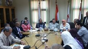 Des tours intensifs du Professeur Elsayed Alkaddi Président de l'Université de Benha autour des Facultés de l'Université dans le cadre des préparations de la suivie pour la nouvelle année universitaire.