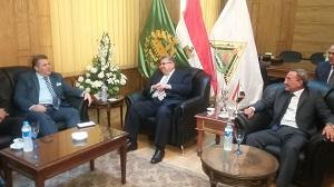 La Visite du Professeur Ashraf al-Shehhi - Ministre de l'Enseignement Supérieur et la Recherche Scientifique à l'Université de Benha.