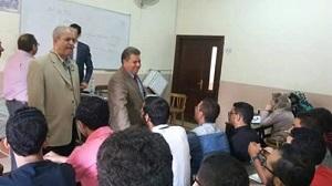 Le Président de l'Université de Benha, visite Les villes universitaires pendant la nuit pour vous assurer sa disposition d'accueillir les étudiants.