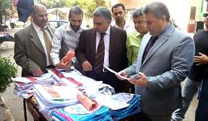 Le Président de l'Université de Benha visite les salles d'étude des facultés de médecine vétérinaire et de l'agriculture de Moshtohor.
