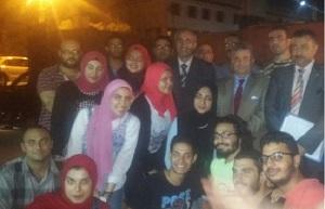 Le Président de l'Université de Benha poursuit les présentations des étudiants universitaires pendant les célébrations de la glorieuse victoire de la guerre d'Octobre.