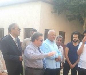 Le président de l'Université de Benha visite les villes universitaires et félicite les étudiants de l'Université a l'occasion de la glorieuse victoire d'Octobre