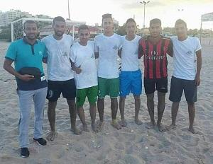 جامعة بنها تحصل على الميدالية الذهبية فى بطولة خماسى كرة القدم الشاطئية ببورسعيد