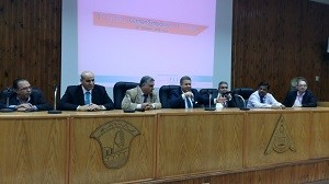The university president inaugurates the German /Egyptian forum to control the Brucella diseases in the Faculty of Veterinary Medicine in Moshtohor