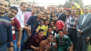 رئيس جامعة بنها يفتتح الملاعب الجديدة بالمدينة الجامعية بمشتهر ومبادرة «مدينتنا الحلوة»