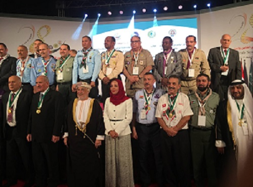 The university's son is awarded by obtaining the highest medal of scouting in the Arab-Region