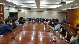 لقاء رئيس جامعة بنها بالمبعوثين المصريين فى الصين