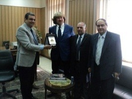 A Professor from Rome University visit the University to increase the Mutual Researches in the Field of Geology of Mining