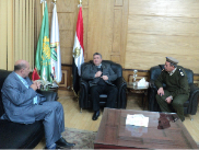 The University President hosts EL-Qulubia Security Director