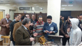 The University President inspects the Creations of the Applied Arts