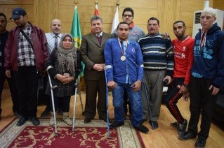 Honoring the Handicapped Students in the Benha University Council