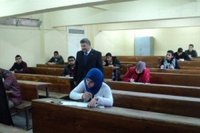 The University President inspects the Exams in the Faculty of Science