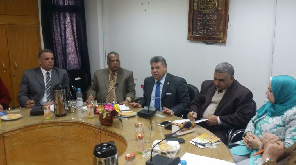 A Hearing session to develop education in Benha University