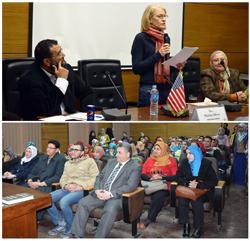 Le professeur El Sayed Elkaddi Président de l'Université de Benha reçoit l'écrivain américain Marsa Silver