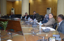 The Head of the quality Project in Benha University's meets the Employees of 14 Departments to be accredited by the accreditation authority