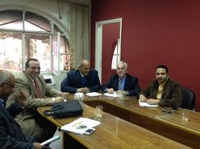 إجتماع المديرين المركزيين لتكنولوجيا المعلومات  بكلية الهندسة بشبرا