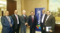 The participation of Benha University's delegation in Microsoft conference in the Nile Ritz hotel at Cairo