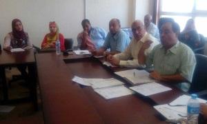 إجتماع المكتب التنفيذي لوحدة التخطيط الإستراتيجي لجامعة بنها