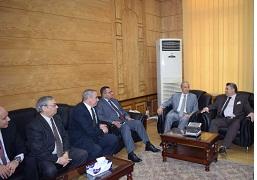مدير أمن القليوبية يزور رئيس جامعة بنها