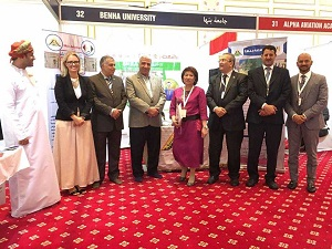 جامعة بنها فى معرض التعليم العالى بسلطنة عمان