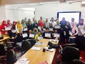 Cours de formation pour la sécurité alimentaire à la faculté de médecine vétérinaire de l'Université de Benha.