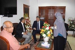 EL-Kady visits the faculty of engineering to inspect the student activities and the community service plans