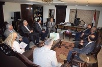 Benha University president in addition to his deputies and six deans pay a visit to the office of security director