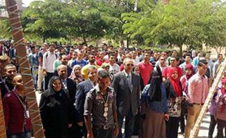 Le premier jour de la nouvelle année académique : le professeur Elsayed Elkaddi visite 8 facultés.